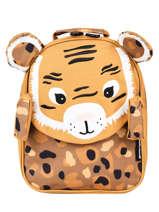 Backpack Globe Trotoys Les deglingos Brown globe trotoys 310