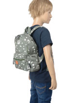 Sac à Dos Little Boy 1 Compartiment Kidzroom Vert fearless 9415-vue-porte