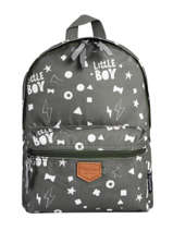 Sac à Dos Little Boy 1 Compartiment Kidzroom Vert fearless 9415