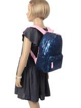 Backpack Glitter 1 Compartment Milky kiss Multicolor glitter 679-vue-porte