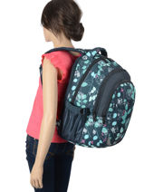Backpack 2 Compartments Street Blue street INFINITY-vue-porte