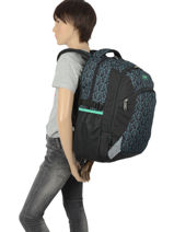 Backpack Stage 2 Compartments Street Gray street STAGE-vue-porte
