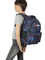 Backpack Vipe 2 Compartments Street Gray street VIPE-vue-porte