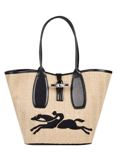 Longchamp Roseau paille Hobo bag Beige