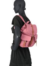 Backpack 1 Compartment Herschel Pink classics woman 10301-vue-porte
