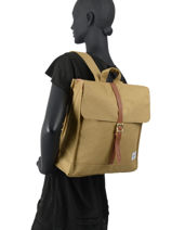 Backpack Herschel Beige classics 10486-vue-porte