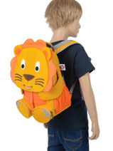 Backpack Affenzahn Yellow large friends FAL1-vue-porte