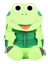Backpack 1 Compartment Affenzahn Green large friends NEL1