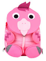 Backpack 1 Compartment Affenzahn Pink large friends NEL1