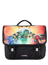 Satchel 2 Compartments Lego Black ninjago 4