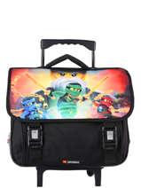 Wheeled Schoolbag 2 Compartments Lego Black ninjago 4
