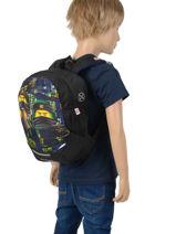 Backpack Mini Lego Black ninjago 10-vue-porte