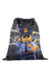 Backpack Lego Brown city police chopper 3