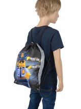 Backpack Lego Brown city police chopper 3-vue-porte