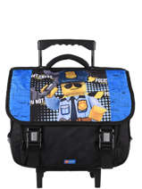 Satchel With Wheels 2 Compartments Lego Blue city police chopper 3