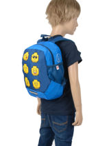 Mini Backpack Lego Blue face blue 6-vue-porte