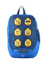 Mini Backpack Lego Blue face blue 6