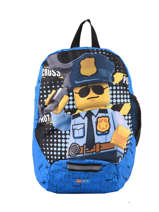 Backpack Mini Lego Blue city police chopper 3