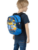 Backpack Mini Lego Blue city police chopper 3-vue-porte