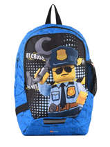 Backpack 1 Compartment Lego Blue city police chopper 3