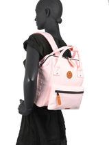 Backpack S 1 Compartment Cabaia Pink tour du monde S-vue-porte