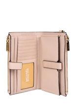 Leather Wallet New Hamilton Michael kors Pink money pieces F9GAFW4L-vue-porte