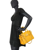 Leather Top-handle Bag Carmen Michael kors Yellow carmen S0GNMS1L-vue-porte