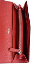 Slim Leather Wallet Ninon Lancel Red ninon A09986-vue-porte