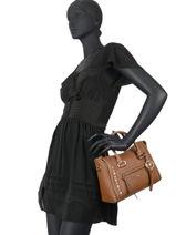 Leather Carine Satchel With Studs Michael kors carine S0GCCS1T-vue-porte