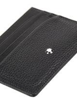 Leather Card Holder Meisterstück 7cc Montblanc meisterstÜck 126258-vue-porte