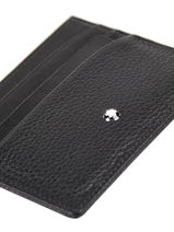 Leather Card Holder Meisterstück 7cc Montblanc Black meisterstÜck 126258-vue-porte