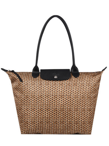 Longchamp Le pliage microknit Hobo bag Brown