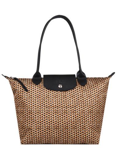 Longchamp Le pliage microknit Hobo bag Brown