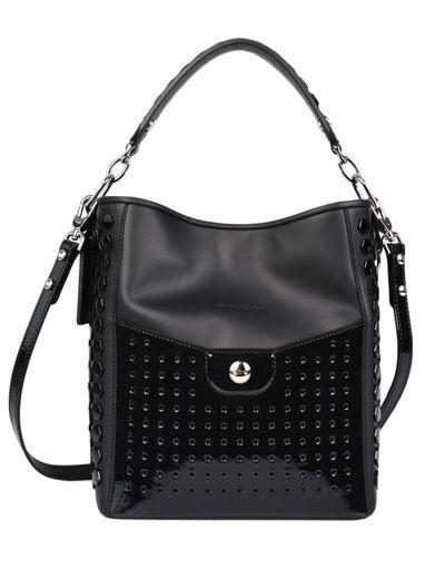 Longchamp Melle longchamp facette Hobo bag Black