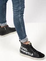 Sneakers brush logo-KARL LAGERFELD-vue-porte