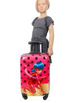 Valise Rigide Tales Of Ladybug Miraculous Rouge tales of ladybug 109896LB-vue-porte