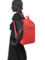 """Business Backpack Serena With 13"""" Laptop Sleeve Hexagona Red serena business 589061-vue-porte"""