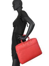 "Business Bag Serena With 15"" Laptop Sleeve Hexagona Red serena business 589049-vue-porte"