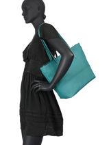 Shoulder Bag A4 Serena Hexagona Blue serena 586375-vue-porte