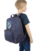Backpack James 2 Compartments Jeune premier daydream boys B-vue-porte