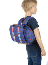 Satchel Mini 1 Compartment Jeune premier daydream boys B-vue-porte