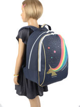 Backpack James 2 Compartments Jeune premier Blue daydream girls G-vue-porte