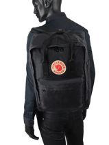 """Backpack 1 Compartment Kånken 17"""" Fjallraven Black kanken 27173-vue-porte"""