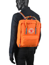 Backpack 1 Compartment Fjallraven Orange kanken 23620-vue-porte