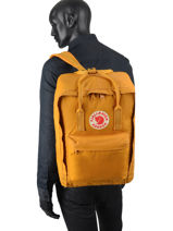 "Backpack 1 Compartment Kånken 17"" Fjallraven Yellow kanken 27173-vue-porte"