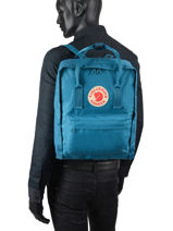 Backpack Kånken 1 Compartment Fjallraven Blue kanken 23510-vue-porte