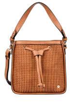 Shoulder Bag Eclat Hexagona Brown eclat 216938