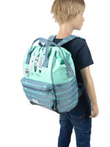 Backpack 1 Compartment Pol fox Blue garcon GSDFUTE-vue-porte