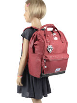 Backpack 1 Compartment Pol fox Red fille FSDFUTE-vue-porte