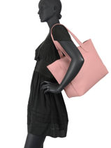 Shoulder Bag A4 Nomade Hexagona Pink nomade 356139-vue-porte